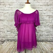NEW Free People Hot Raspberry On Or Off Shoulder Mini Dress Sz XS FREE SHIPPING