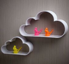 Cloud Monocromatico DISPLAY MURO MENSOLE SCAFFALE MODERNO NERO BIANCO Stanza Bambini Nursery