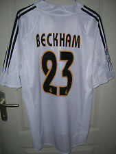 Maillot de foot Real Madrid camiseta shirt jersey Beckham adidas taille M neuf!