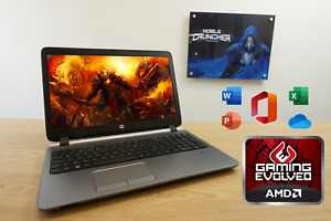 "HP Gaming Slim Laptop 15.6"" 8GB RAM 128GB SSD AMD A8 Quad Core Radeon R5 GPU"