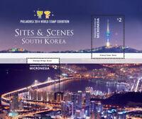 Micronesia- Philakorea Expo-Sites And Scenes Of South Korea Stamp - S/S MNH