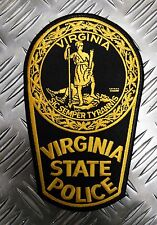 "US Virginia State Police ""Sic Semper Tyrannis"" Large Shoulder Patch / Badge PB02"