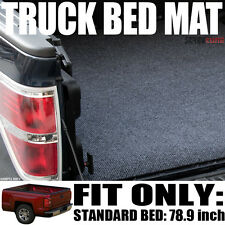 Grey/Blk Truck Bed Cargo Box Floor Mat Carpet Kit 04-14 Ford F150 Truck 6.5'/78""