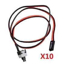10 un. Cable de alimentación y de interruptor de botón para el reemplazo de PC en Off interruptor de reinicio