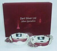 Pair Scottish Silver Quaichs, Edinburgh Hallmarked, Dart Silver Ltd