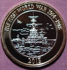 WWI 1914 - 1918  Royal Navy Royal Mint £2 coin - excellent condition World War 1