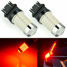 JDM ASTAR 2x 3156 3056 144-SMD Super Bright Tail Stop Brake Light LED Bulbs Red