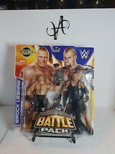2014 Mattel WWE Battle Pack Brock Lesnar VS Undertaker Figures Wrestlemania 30