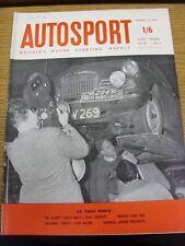 22/01/1960 Autosport Magazine: Vol 20 No 04  (Name On Front, Rusty Staples)