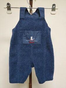 0-3 months Oshkosh Baby Overalls Winter Polyester Mohair Blue Unisex Bibs