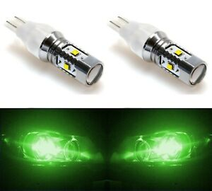 LED Light 30W 921 Green Two Bulbs Interior Cargo Trunk Replacement Upgrade OE