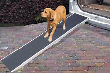ALUMINIUM FOLDABLE PET DOG RAMP STEP LIGHT WEIGHT NON SLIP SURFACE 122CM X 38CM