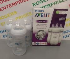 Triple Pack 3 x Philips Avent Natural Baby Feeding Bottles 260ml/9oz SCF693/37