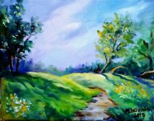 "QUEBEC SPRING oil on canvas 12x16"" original painting in vibrant colors! SALE!"