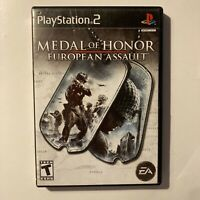 Medal Of Honor European Assault PS2 Sony PlayStation 2 Video Game Tested