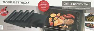Gourmetmaxx Grillmatten Backmatten Fettarm Antihaft 4er Set Backformen NEU