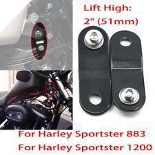 "2"" 51mm Gas Tank Raise Lift Kit w/ Bolt For Harley Sportster XL 1200 883 Dyna"