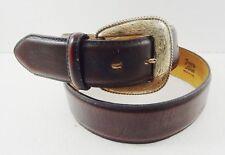 Tony Lama Burgundy Leather Belt 1289L Size 30 Made in USA