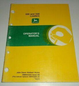 John Deere 520 540 Loader Operators Manual ORIGINAL (fits 2440 - 5200 Tractors)
