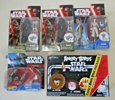 5 VINTAGE STAR WARS FIGURES THE FORCE AWAKENS ANGRY BIRDS HOTWHEELS HARSBRO DISN