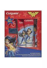 Colgate Kids Toothbrush, Toothpaste, Mouthwash Gift Set - Wonder Woman