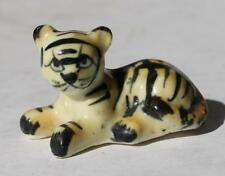 Cheetah Yellow Black Striped Figure Ceramic-Porcelain Bone China Hand Painted