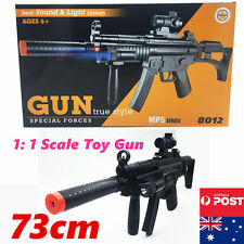 Plastic Police Toy Gun Battery Weapon Kids Rifle Children Boys Army Costume MP5