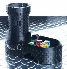 Dice Tower with Spiral Staircase (Black)