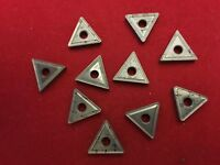 CARBOLOY inserts with chip breakers Quantity 10 all NEW Triangle