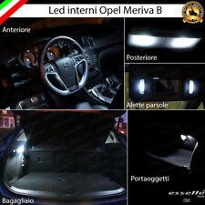 KIT LED INTERNI ABITACOLO OPEL MERIVA B  CANBUS 6000K CONVERSIONE COMPLETA