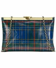 Patricia Nash Shoulder Bag Tartan Asher Clutch Plaid Leather Chain Strap NWT