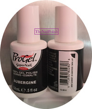 SuperNail ProGel Gel Polish 14ml = 0.5oz Aubergine #80280 Brand New