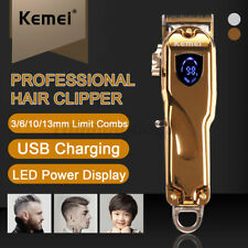 Kemei Electric Cordless Hair Trimmer Clipper Cutter Rechargeable Mens Shaver Kit