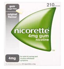 Nicorette Nicotine 4mg Sugar 210 Gum Original Flavour
