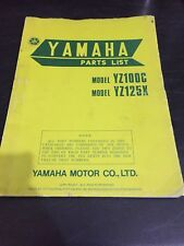 Yamaha YZ100C YZ125X Parts list