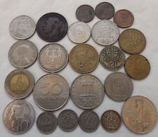 LOT SILVER COINS 23 OLD COINS GREECE THAILAND SWEDEN EAST GERMANY US ISRAEL UK N