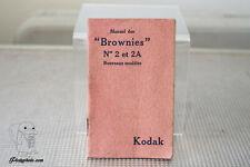 KODAK BROWNIE N°2 & N°2A MODE D'EMPLOI INSTRUCTION MANUAL