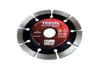 TEIKUTA Angle Grinder Segmented Diamond Blade Cutting Disc 115 X 22.2mm 8104