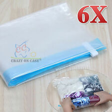 6x Roll-up Compression Storage Bag Camping Travel Home No Vacuum Luggage Pack AU