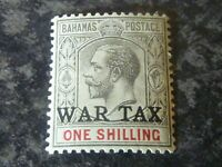 BAHAMAS POSTAGE WAR TAX STAMP SG95 1/- GREY BLACK & CARMINE LMM