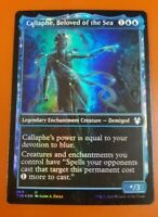 x4 CALLAPHE BELOVED OF THE SEA Showcase FOIL Theros Beyond Death NM