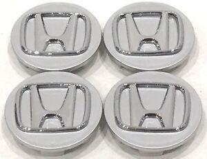 "4 Pcs, Wheel Center Cap, Honda Silver Chrome Logo 69MM / 2.72"" -H1- Accord Civic"