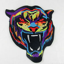 DIY Embroidery Rainbow Tiger Sew Iron On Patch Badge Bag Clothes Fabric Applique