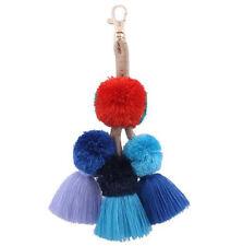 Tassel Ball PomPom Keyring Charm Pendant Purse Bag Key Ring Chain Keychain Gift