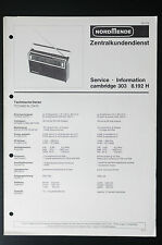 NORDMENDE CAMBRIDGE 303 8.192 H Original Service-Manual/Info/Schaltplan! o33