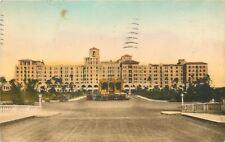 Hollywood By The Sea Florida~Hollywood Beach Hotel~Boulevard Side~1931 Postcard