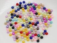 2000 Mixed Colour Half Pearl Gems Flatback Bead 3mm Nail Art Tips + Storage Box