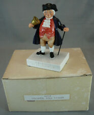 Vintage Sebastian Miniatures Figure With Box 1959 Colonial Bell Ringer #6207