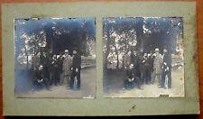 Stereophoto Foto di gruppo nel parco