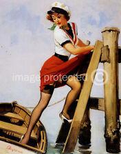 Sailor Beware Gil Elvgren Vintage Pinup Girl 11x17 Poster